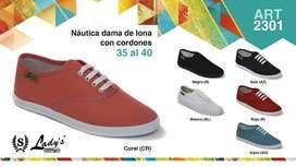 ART 2301 NAUTICA DAMA LONA CON CORDONES DEL 35 al 40
