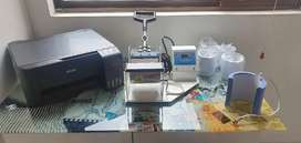 Impresora Epson L3110 y maquina sublimadora para imprimir mugs