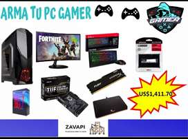PC GAMER, MONITOR, CPU, TECLADO, MOUSE YPAD MOUSE GAMING