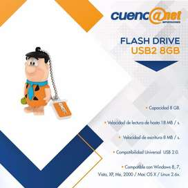 Flash Drive Usb2 Animado 8gb Fred Flintstone Emtec