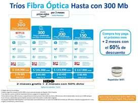 Servicio de internet para el hogar fibra óptica
