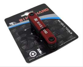 Multiherramienta allen y destornilladores Bike Hand Cromo Vanadium