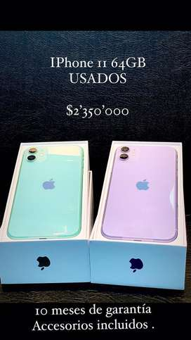 Iphone 11 64 gb impecables