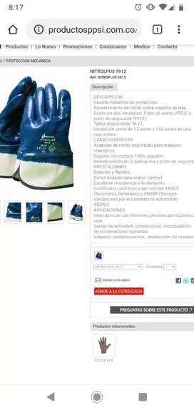 Se vende guantes nitroplus