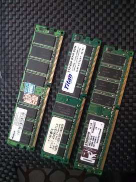 Vendo o cambio memoria ram DDR2 2 GB y ddr1 512 GB