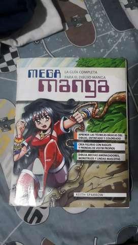 """Mega Manga. La guia completa para dibujo Manga"" libro didáctico de Keith Sparrow"