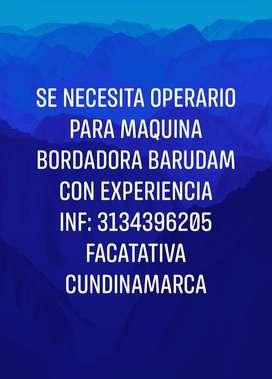 Operario con experiencia Bordadura Barudam