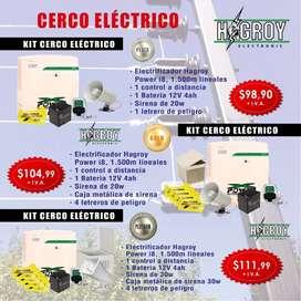 ki cerco electrico hagroy/ jfl.cercos electricos para casas monitores desde el celular/kit cerco electrico marca hagroy