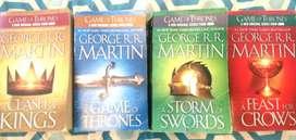 Colección 4 libros originales Game of Thrones version en Inglés