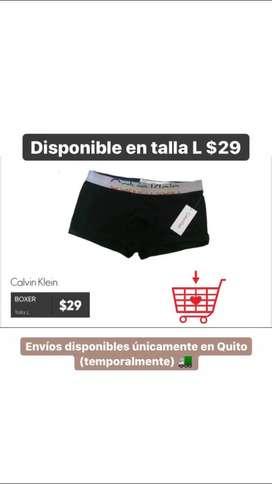 Bóxer Calvin Klein talla L $29