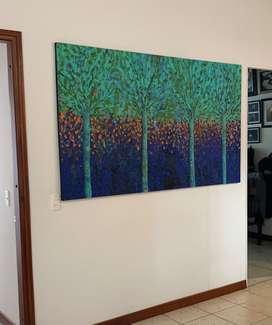 Pintura expresionista - acrílico sobre lienzo.