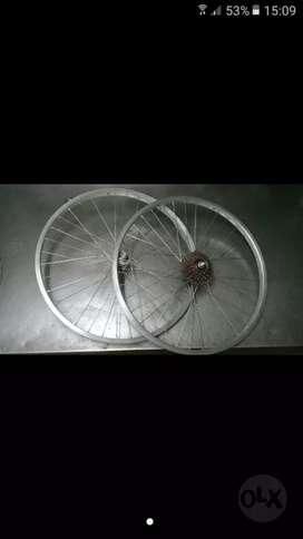 Juego ruedas rodado 24 mtb