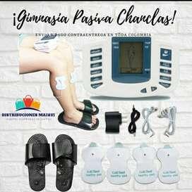 Gimnasia Pasiva Masaje Pulsos Electroestimulacion Chanclas+o