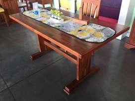 vendo mesa de algarrobo maciza nueva