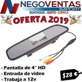 PANTALLA RETROVISOR DE 4 PULGADAS PARA CARRO