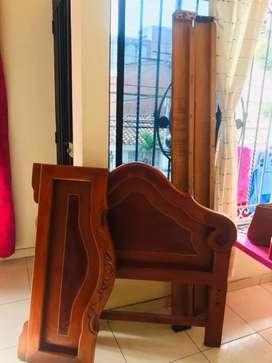 Se vende cama de 1*1,20 en cedro rosado en tan solo 200,000