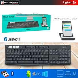 Teclado Logitech K375 Bluetooth Multidispositivo con SOPORTE