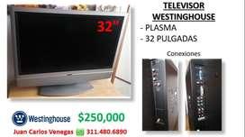 "Tv 32"" Westinghouse plasma"