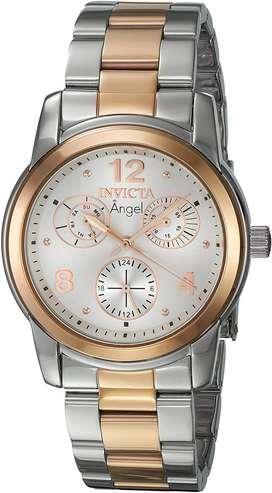 Reloj Mujer Invicta Angel Plateado Oro Rosa 21689