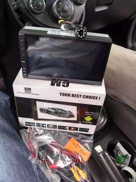Radio pantalla doble din con camara incluida GM AUDIO (instalado)