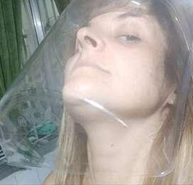 Máscara de protección facial con cubre menton