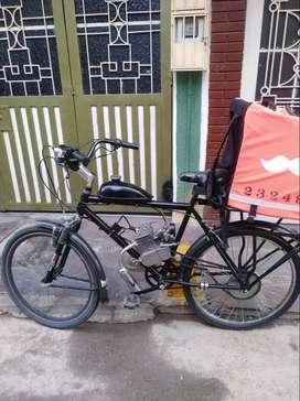 Vendo ciclomotor o bicimoto en muy buen estado, 6 meses de uso marco y parrilla nuevos listo para trabajar