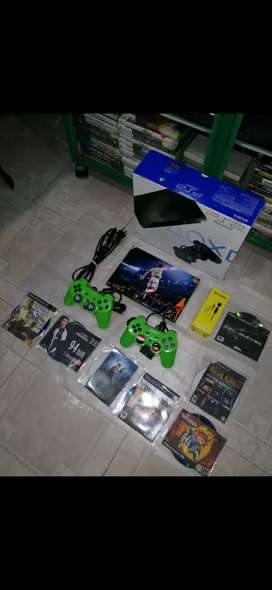 VENDO PS2 SLIM COMPLETO BN TENIDOS