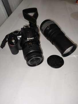 Venta camara NIKON D3100 y dos lentes