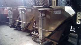 Tanque/batea Acero Inox 1/2 M3 Sistema Volcado Neumatico