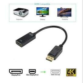 Full HD 1080P DisplayPort DP macho a HDMI hembra Adaptador de cable Convertidor