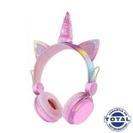 Diadema audífonos Bluetooth unicornio