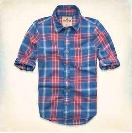 Camisa Hollister Sarga Grandview - Importado EEUU
