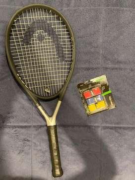 Raqueta de tenis y grips