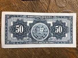 Billetes de 50 Soles de Oro Nuevos Año59