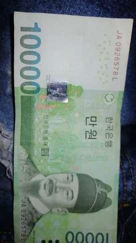 Vendo billete de 10000 won