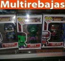 Muñeco Funko Pop Batman, Hulk, Ant Man