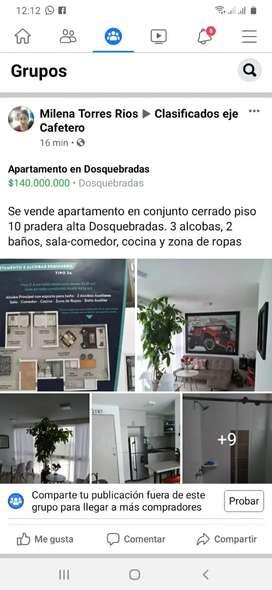 Venta de apartamento en Dosquebradas