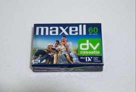 Cassette Virgen Mini DV de 60 Minutos Maxell Made in Japan. Para Filmadoras. Es nuevo esta cerrado en el celofán.