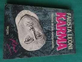 Karma . Historia de una reencarnacion . Fausta Leoni . Libro Vergara