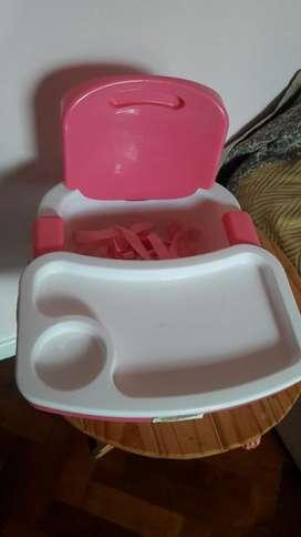 Silla de Comer Ok Baby Rosa