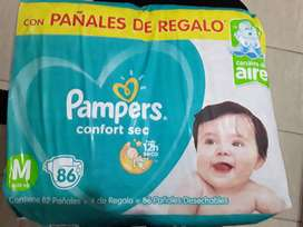 Pañales Pampers Confort Sec talle M