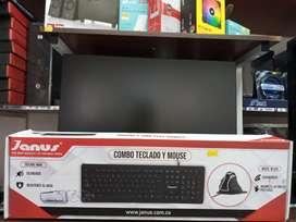 Combo teclado y mouse Ergonómico nuevo USB