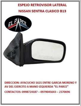 ESPEJO RETROVISOR TOYOTA HILUX MAZDA BT50 NISSAN SENTRA HYUNDAI ACCENT 12
