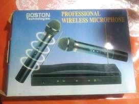 Karaoke NUEVO BOSTON Microfonos Inalambricos Duo 2 En 1