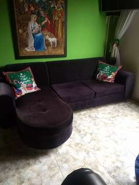 Sofa en La negro