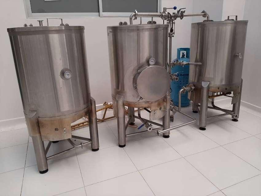 Tren de cocción cerveza artesanal 130L 0