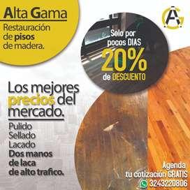 20% de Descuento en mantenimiento de pisos de madera.