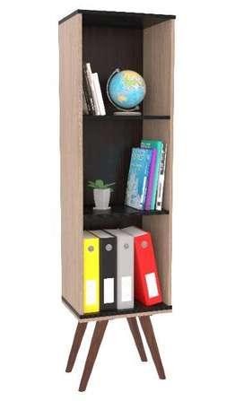 Biblioteca decorativa con patas de madera, entrega inmediata!
