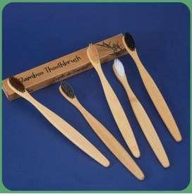 Set x 10 Cepillos de dientes de bambu Cepillos de dientes bambu PAGO CONTRAENTREGA ENVIO A NIVEL NACIONAL