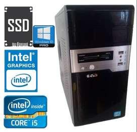 Cpu Core I5 Con 8gb Ram Y Disco Estado Solido Win 10 Garantía 6 meses